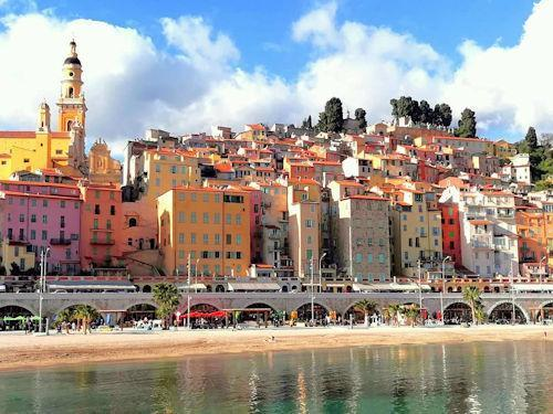 weather menton france
