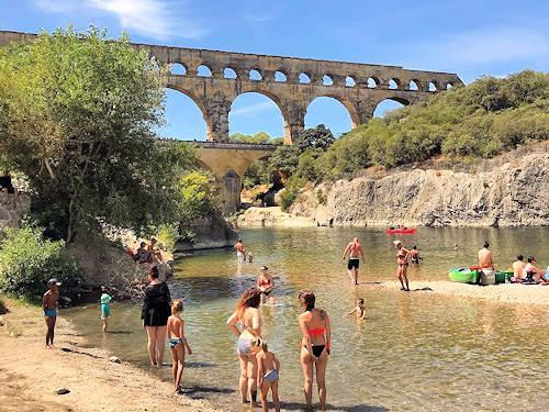 pont du gard swimming france