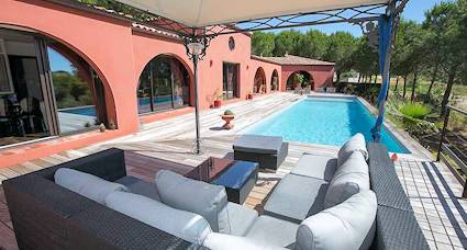 french villa rentals pool terrace
