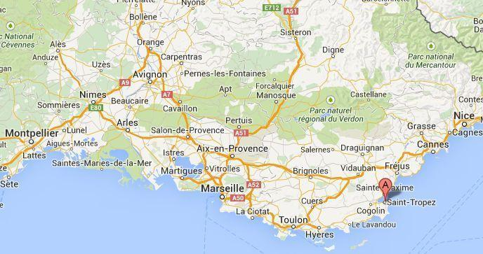 Go Languedoc where is Saint Tropez in South France